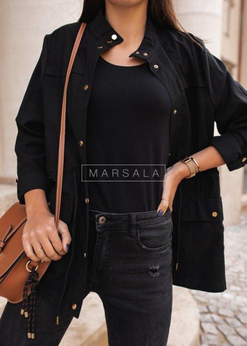 Lekka kurtka w kolorze czarnym - ARCADY